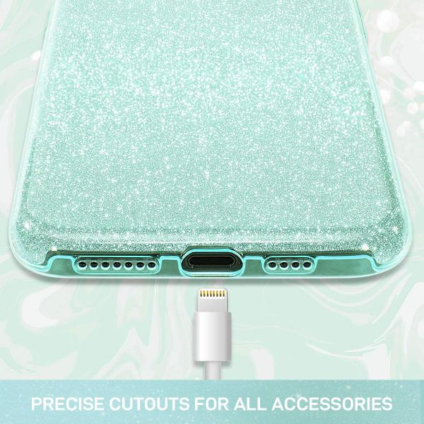 "Husa Apple iPhone 11 6.1"" Color Silicon TPU Carcasa Sclipici Verde 1"