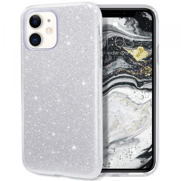"Husa Apple iPhone 11 6.1"" Color Silicon TPU Carcasa SclipiciArgintiu 0"