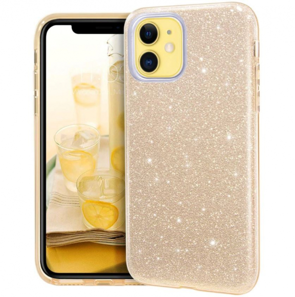 "Husa Apple iPhone 11 6.1"" Color Silicon TPU Carcasa Sclipici Auriu Gold [0]"
