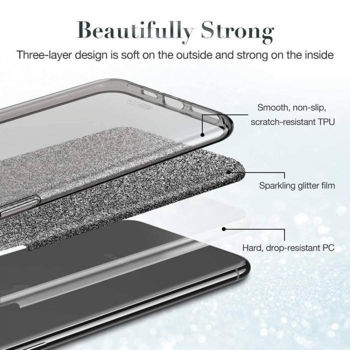"""Husa Apple iPhone 11 Pro 5.8"""" Color Silicon TPU Carcasa Sclipici Albastru 2"""