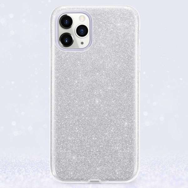 "Husa Apple iPhone 11 Pro 5.8"" Color Silicon TPU Carcasa Sclipici Argintiu 5"