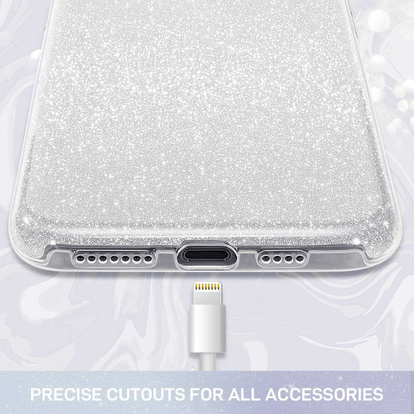 "Husa Apple iPhone 11 Pro 5.8"" Color Silicon TPU Carcasa Sclipici Argintiu 4"