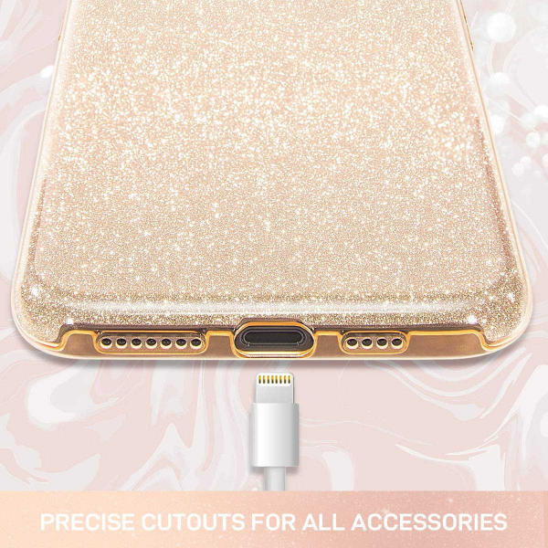 "Husa Apple iPhone 11 Pro 5.8"" Color Silicon TPU Carcasa Sclipici Auriu Gold 4"