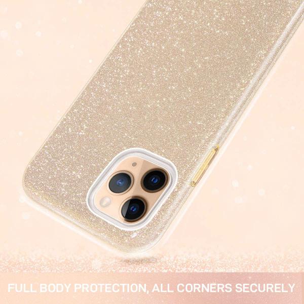 "Husa Apple iPhone 11 Pro 5.8"" Color Silicon TPU Carcasa Sclipici Auriu Gold 1"