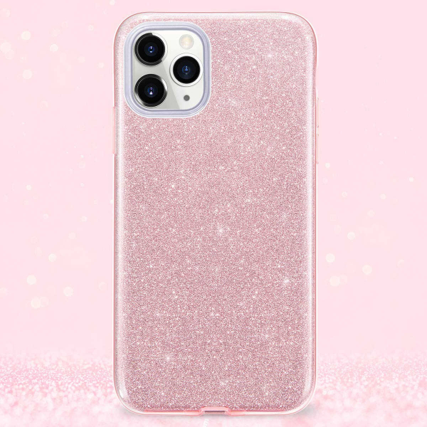 "Husa Apple iPhone 11 Pro 5.8"" Color Silicon TPU Carcasa Sclipici Roz 4"