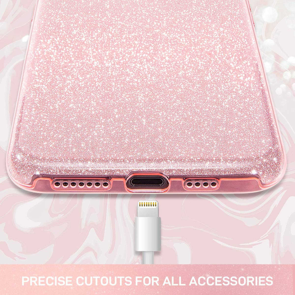 "Husa Apple iPhone 11 Pro 5.8"" Color Silicon TPU Carcasa Sclipici Roz 3"