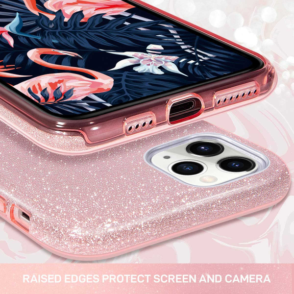 "Husa Apple iPhone 11 Pro 5.8"" Color Silicon TPU Carcasa Sclipici Roz 2"
