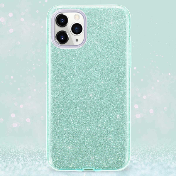 "Husa Apple iPhone 11 Pro 5.8"" Color Silicon TPU Carcasa Sclipici Verde 4"