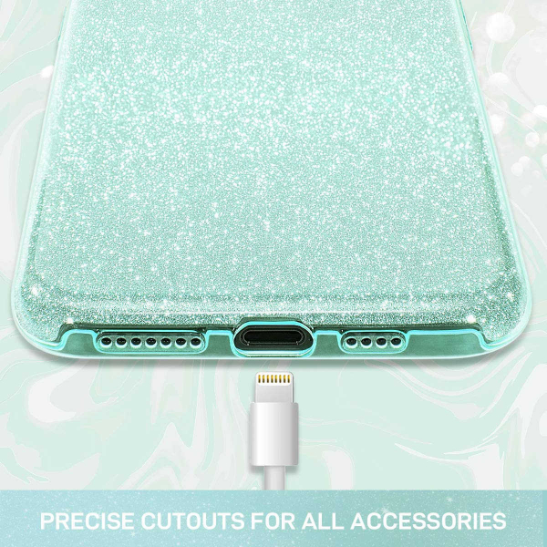 "Husa Apple iPhone 11 Pro 5.8"" Color Silicon TPU Carcasa Sclipici Verde 5"