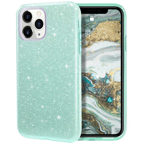 "Husa Apple iPhone 11 Pro 5.8"" Color Silicon TPU Carcasa Sclipici Verde 0"