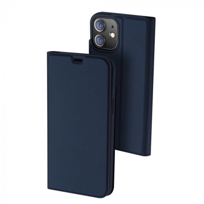 Husa Flip Apple iPhone 12 Mini Tip Carte Albastru Skin DuxDucis [0]