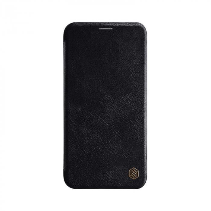 Husa Flip iPhone 12 Negru Tip Carte Magnetica Nillkin Qin [0]