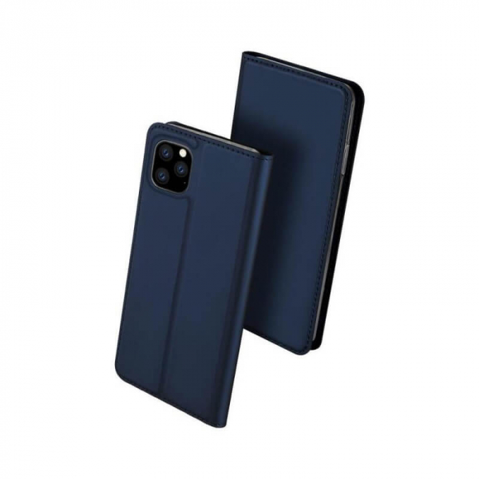 Husa Flip Apple iPhone 12Pro Tip Carte Albastru Skin DuxDucis [0]