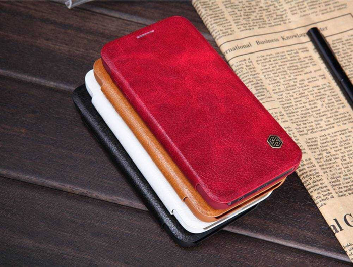 Husa Flip iPhone 12 Pro Max Rosu Tip Carte Magnetica Nillkin Qin [4]