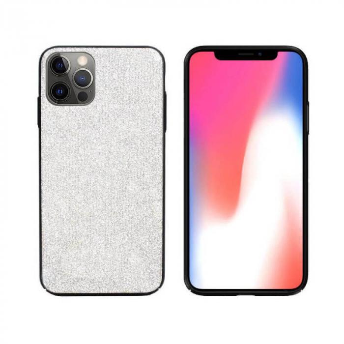Husa Apple iPhone 12 Pro Sclipici Argintiu Carcasa Spate Dot [0]