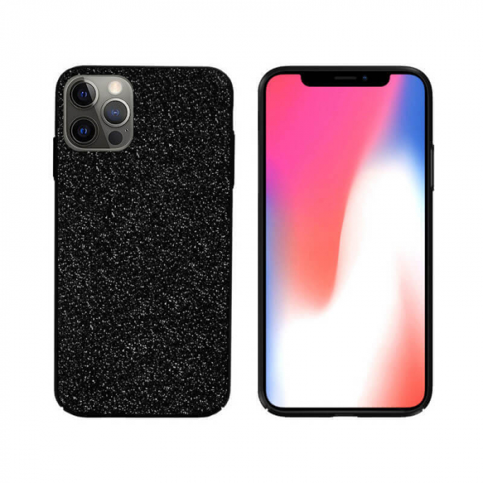 Husa Apple iPhone 12 Pro Sclipici Negru Carcasa Spate Dot [0]