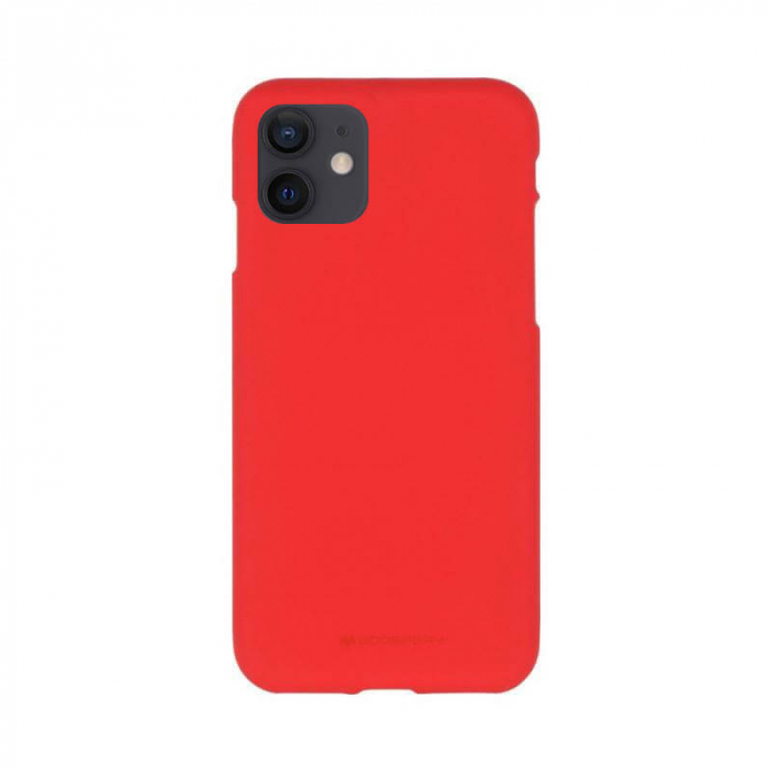 Husa Apple iPhone 12 Rosu Jelly Soft 0