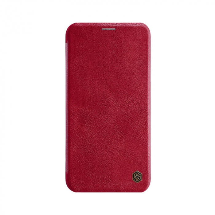 Husa Flip iPhone 12 Rosu Tip Carte Magnetica Nillkin Qin [0]