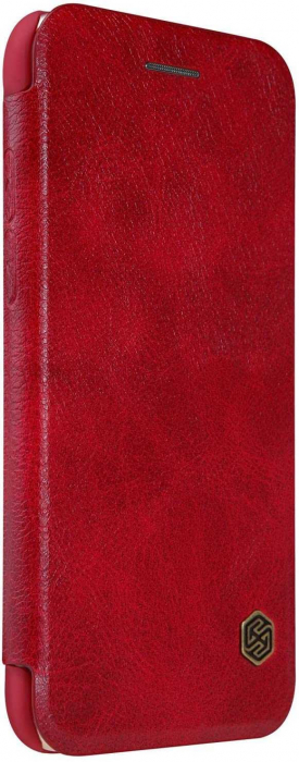 Husa Flip iPhone 12 Rosu Tip Carte Magnetica Nillkin Qin [2]