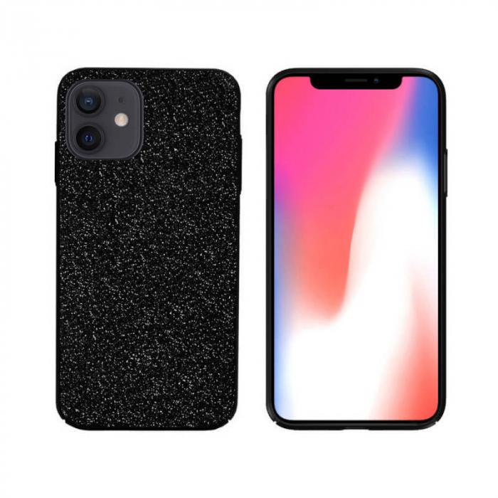 Husa Apple iPhone 12 Sclipici Negru Carcasa Spate Dot [0]