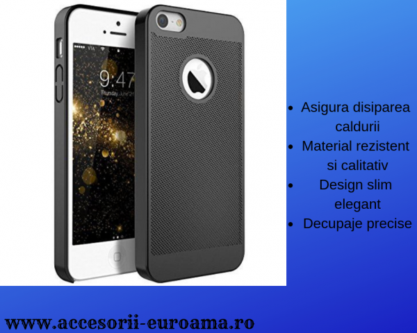 Husa Apple iPhone 5 / 5S  Perforata PC Hollow Mesh Policarbonat 3