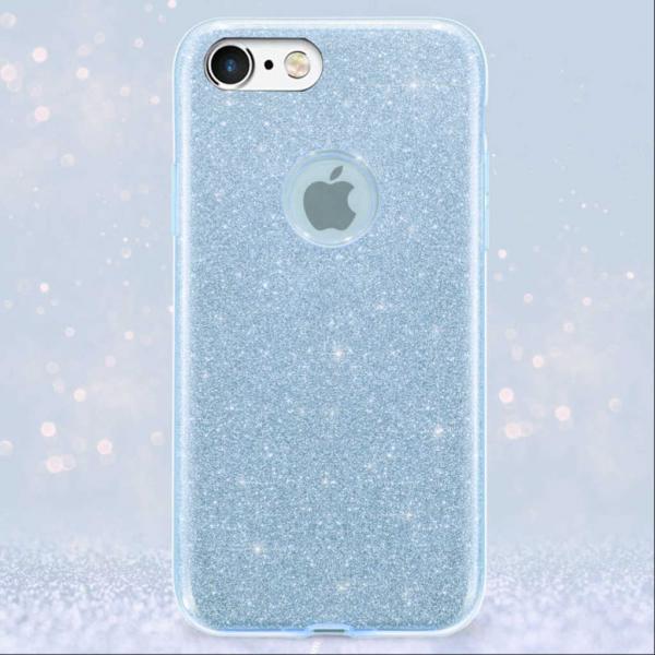 Husa Apple iPhone 6 Sclipici Carcasa Spate Albastru Silicon TPU 1