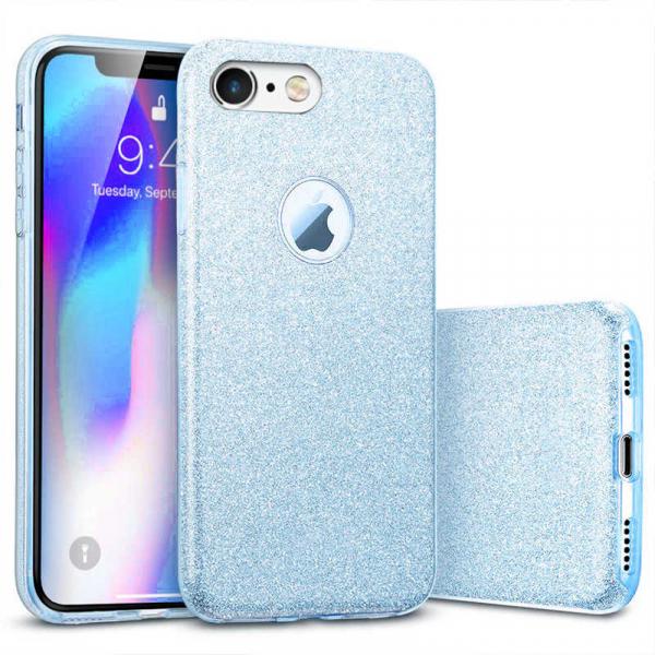 Husa Apple iPhone 6 Sclipici Carcasa Spate Albastru Silicon TPU 0