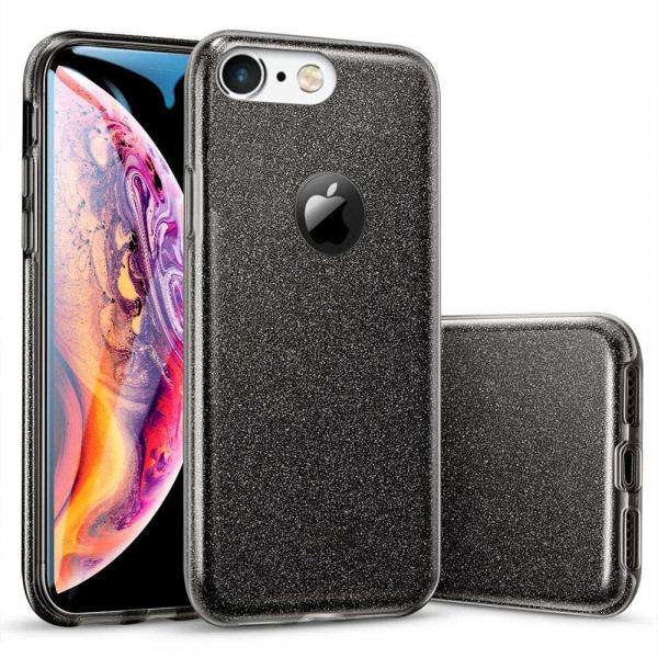 Husa Apple iPhone 6 Sclipici Carcasa Spate Negru Silicon TPU [0]