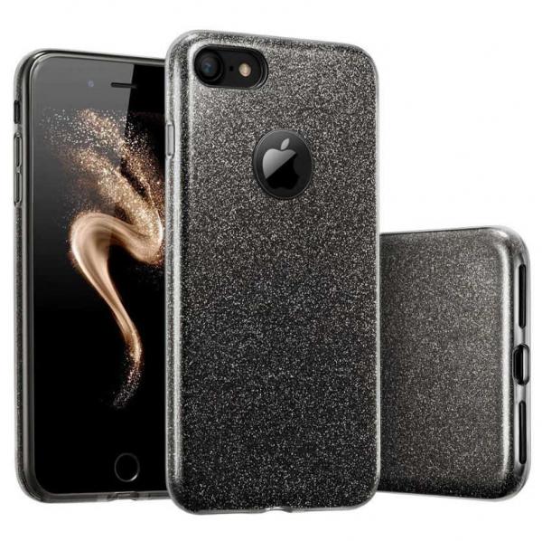 Husa Apple iPhone 7 / iPhone 8 Sclipici Carcasa Spate Negru Silicon TPU [0]