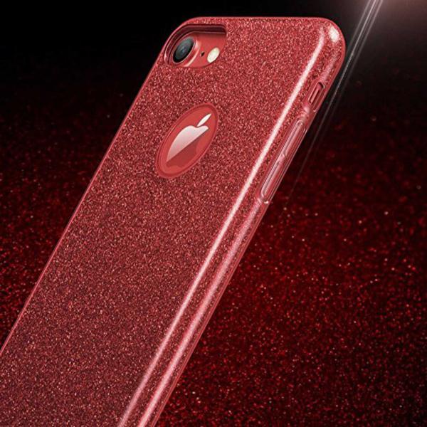 Husa Apple iPhone 7 / iPhone 8 Sclipici Carcasa Spate Rosu Silicon TPU 1