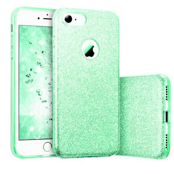 Husa Apple iPhone 7 / iPhone 8 Sclipici Carcasa Spate Verde Silicon TPU 0