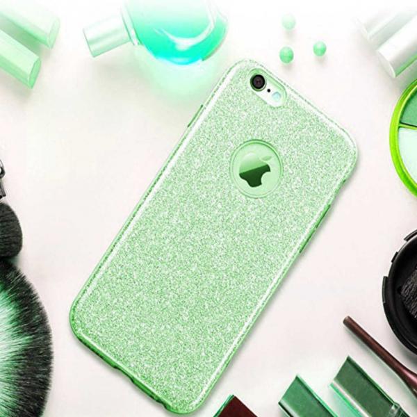 Husa Apple iPhone 7 / iPhone 8 Sclipici Carcasa Spate Verde Silicon TPU 1