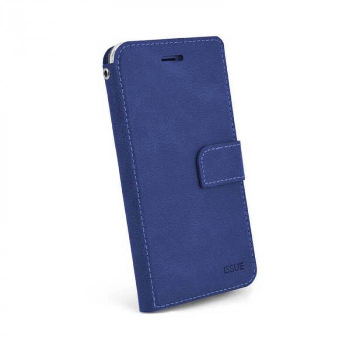 Husa Flip Apple iPhone X Tip Carte Albastru Magnetica Hana Issue [0]