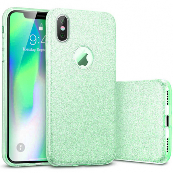 Husa Apple iPhone X / iPhone XS Sclipici Carcasa Spate Verde Silicon TPU [0]