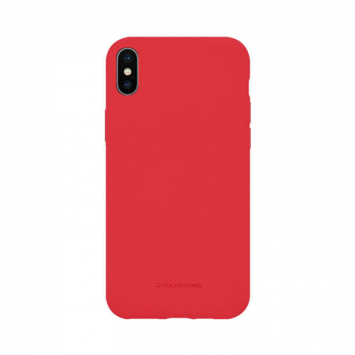 Husa Apple iPhone X Silicon Rosu Molan Cano 0