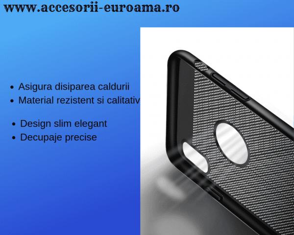 Husa Apple iPhone X / XS Carcasa Spate Perforata Negru 2