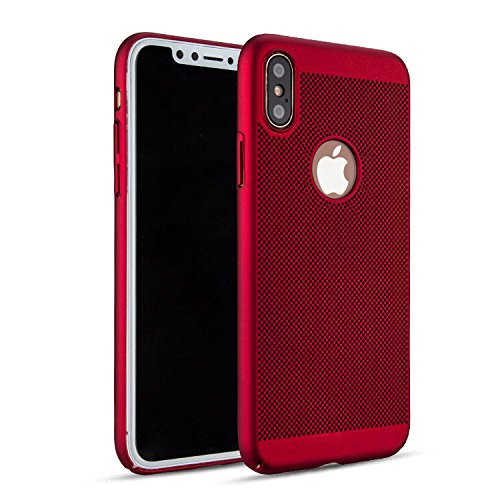 Husa Apple iPhone X / XS Carcasa Spate Perforata Rosu 0