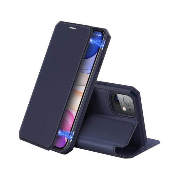 Husa iPhone XR Flip Tip Carte Albastru Piele Eco X-Skin [0]