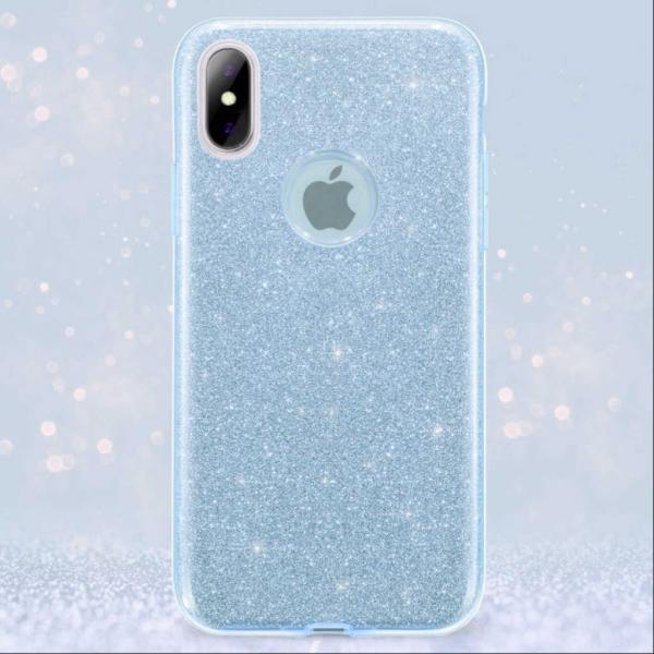 Husa Apple iPhone XR Sclipici Carcasa Spate Albastru Silicon TPU 1