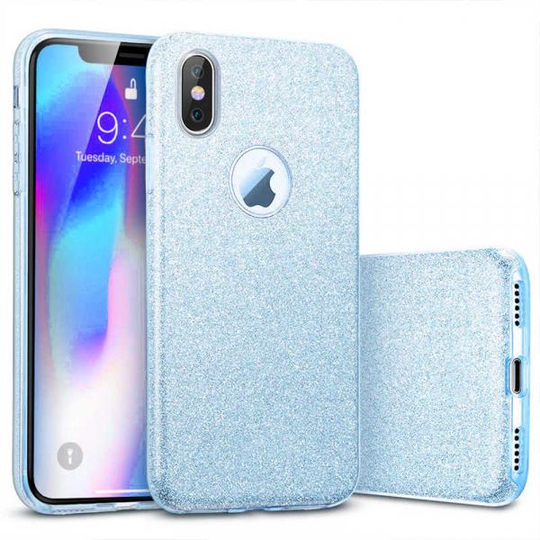 Husa Apple iPhone XR Sclipici Carcasa Spate Albastru Silicon TPU 0