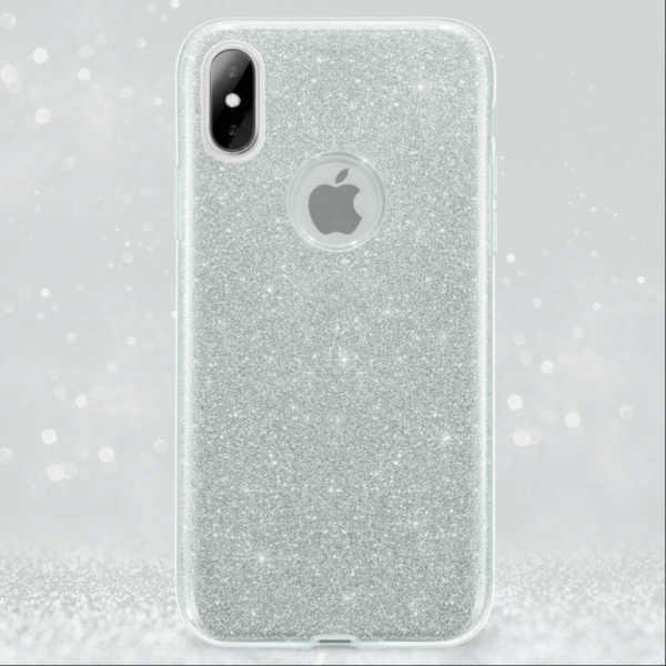 Husa Apple iPhone XR Sclipici Carcasa Spate Argintiu Silicon TPU [1]