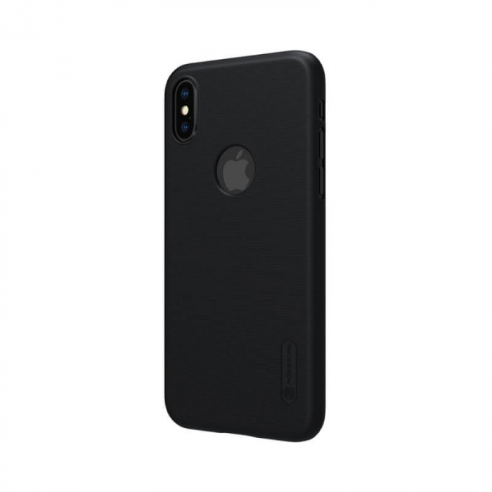 Husa Silicon iPhone XS Negru Nillkin Frosted 2