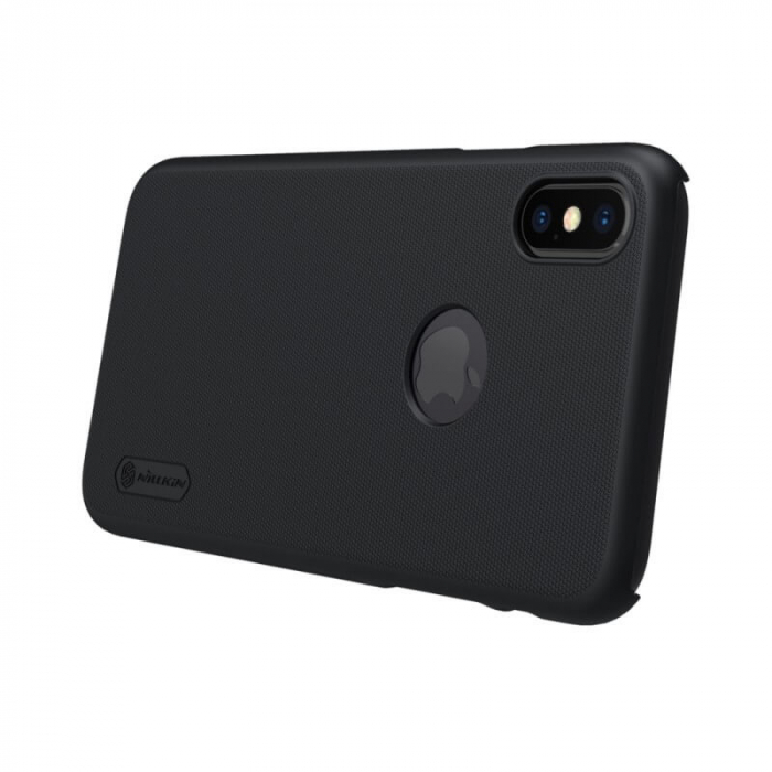 Husa Silicon iPhone XS Negru Nillkin Frosted 3