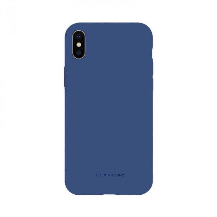 Husa AppleiPhone XS Silicon Albastru Molan Cano 0