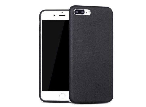Husa Carcasa Apple iPhone 7 Plus 8 Plus Neagra Silicon Black 0