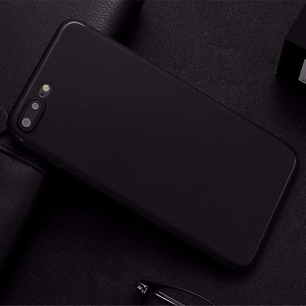 Husa Carcasa Apple iPhone 7 Plus 8 Plus Neagra Silicon Black