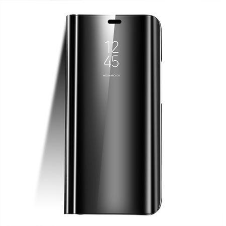 Husa Huawei Y6 2018 Clear View Flip Standing Cover (Oglinda) Negru (Black)