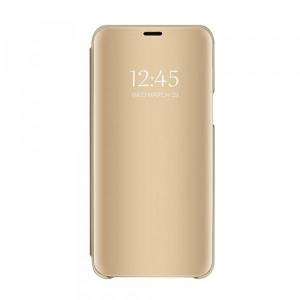 Husa Huawei P20 Lite Clear View Flip Standing Cover (Oglinda) Auriu (Gold) 0