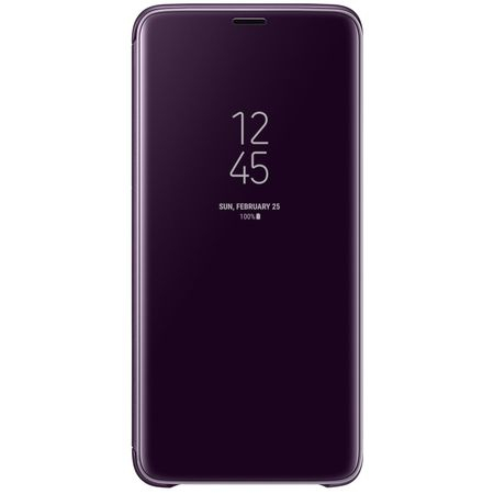 Husa Huawei P20 Clear View Flip Standing Cover (Oglinda) Mov (Purple)