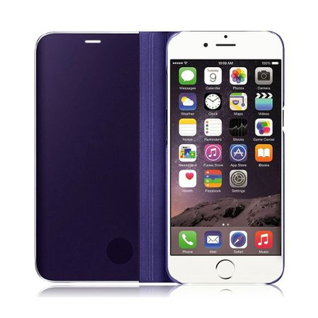 Husa iPhone 7 / 8 Clear View Flip Standing Cover (Oglinda) Mov (Purple) 2